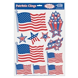 Patriotic Window Clings
