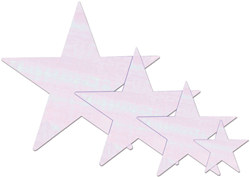 Opalescent Foil Star (5 inch)