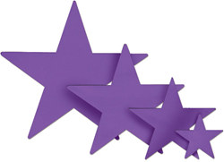 Purple Foil Star (15 inch)
