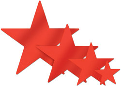 Red Foil Star (12 inch)