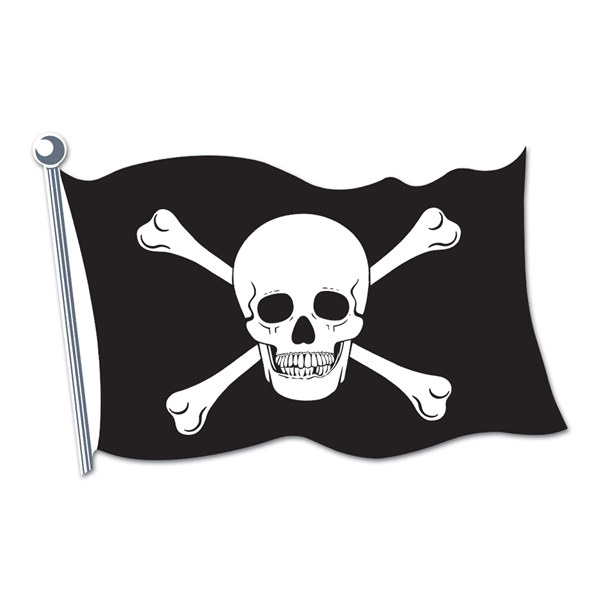Pirate Flag Cutout Partycheap