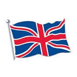 British Flag Cutout