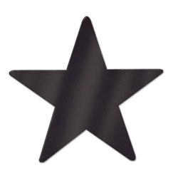 Black Metallic Star Cutouts (12/Pkg)