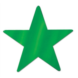 Green Metallic Star Cutouts (12/Pkg)