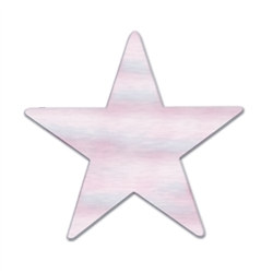 Opalescent Metallic Star Cutouts (12/Pkg)