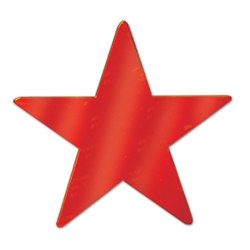 Red Metallic Star Cutouts (12/Pkg)