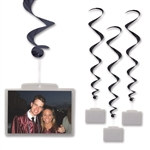 Black Whirls with Clear Plastic Pocket (3/pkg)