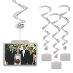 Silver Whirls with Clear Plastic Pocket (3/pkg)