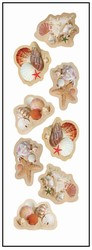 Seashell Stickers (2 sheets/pkg)