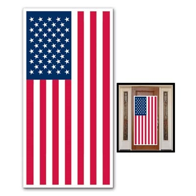 American Flag Door Cover Partycheap