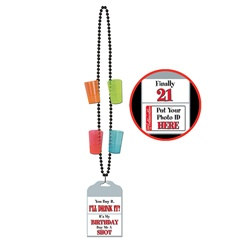 21st Birthday Party Beads (1/pkg)