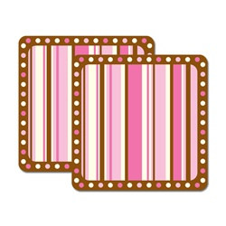 Pink and Brown Coasters (8/pkg)