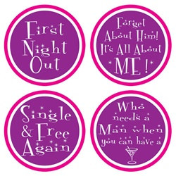 Divorce Party Coasters (8/pkg)