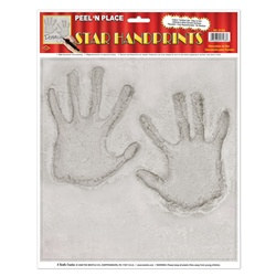 Star Handprint Peel N Place (1/sheet)