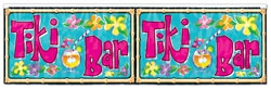 Metallic Tiki Bar Fringe Banner