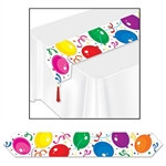 Printed Party Balloons Table Runner