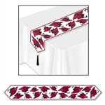Maroon Printed Grad Cap Table Runner