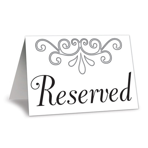 table reservation card template - reserved table cards 4 pkg partycheap