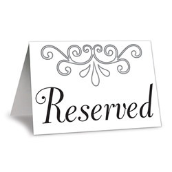 Reserved Table Cards (4/pkg)