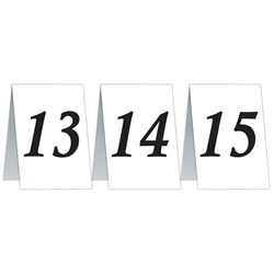 Numbered Table Cards 13-24
