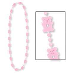 Pink Teddy Bear Beads