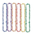 Happy 80th Birthday Beads of Expression (1/pkg)