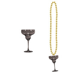 Gold Beads with Margarita Glass (1/pkg)