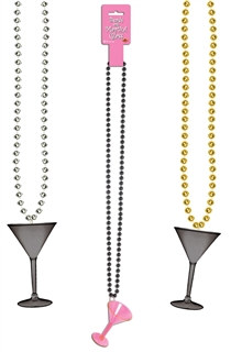 Beads with Martini Glass (Choose Color)