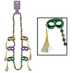 Mask with Tassel Beads