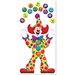 Birthday Clown Door Cover