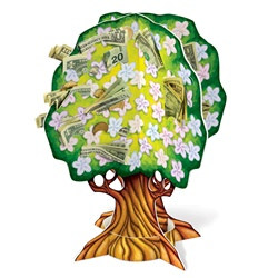 3-D Baby Shower Money Tree
