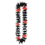 Black and Red Silk N Petals Lotus Leis (1/pkg)