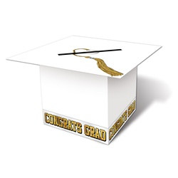 White Grad Cap Card Box