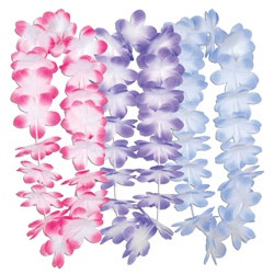 Assorted Silk N Petals Island Flowers Leis (1/pkg)