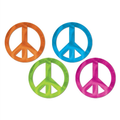 Foil Peace Sign Cutouts