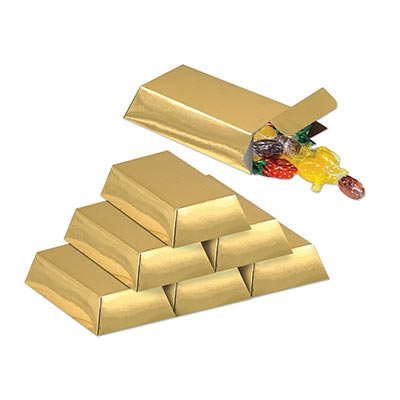 Gold Bar Favor Boxes Partycheap