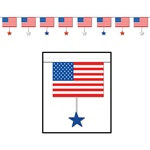Flags and Stars Banner