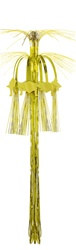 Gold Graduation Cap Cascade Hanging Column