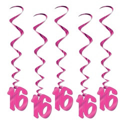 16th Pink Whirls (5/pkg)