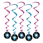 Rock and Roll Record Whirls (5/pkg)