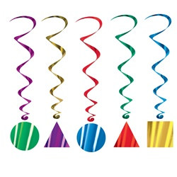 Party Shape Whirls (5/pkg)