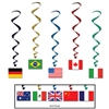 International Flag Whirls (5/pkg)