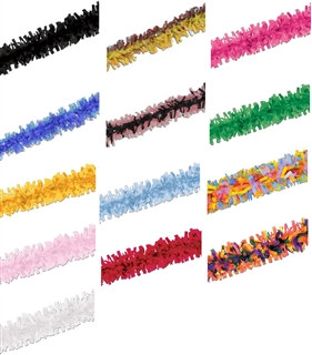12' Creative Craft Tissue Fringe (Choose Color)
