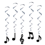 Musical Note Whirls (5/pkg)
