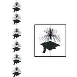 Black Graduation Cap Firework Stringer