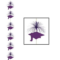 Purple Graduation Cap Firework Stringer (1/pkg)