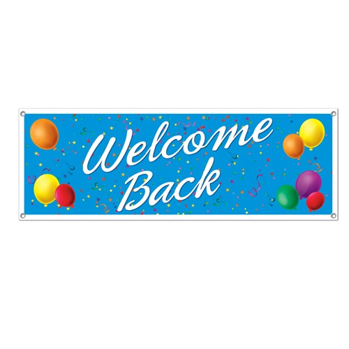 Welcome Back Sign Banner PartyCheap