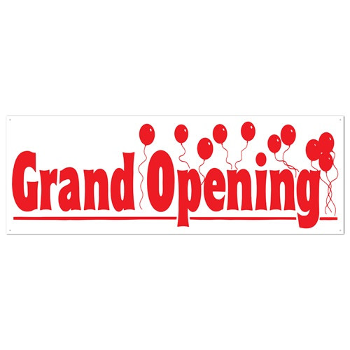 Grand Opening Sign Banner Partycheap