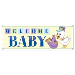 Welcome Baby Sign Banner