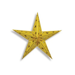 Gold Dimensional Foil Star (12 inch)